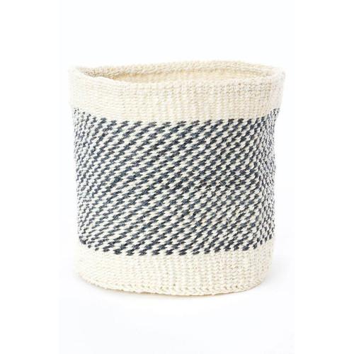 "Handwoven Sisal Basket - Large 8""D x 8""H"