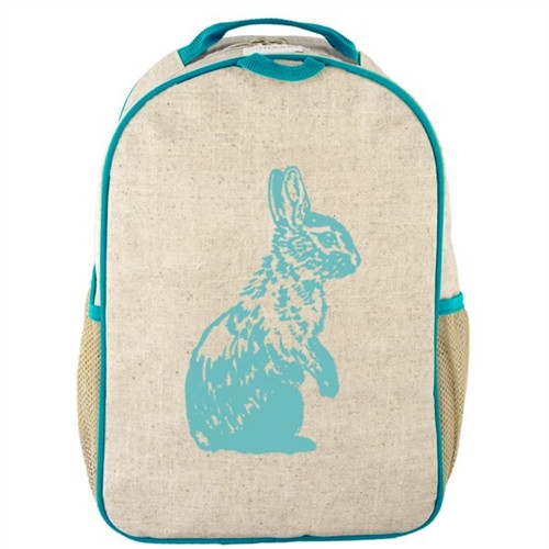 So Young Mother  - Eco Friendly Back Pack - Aqua Bunny