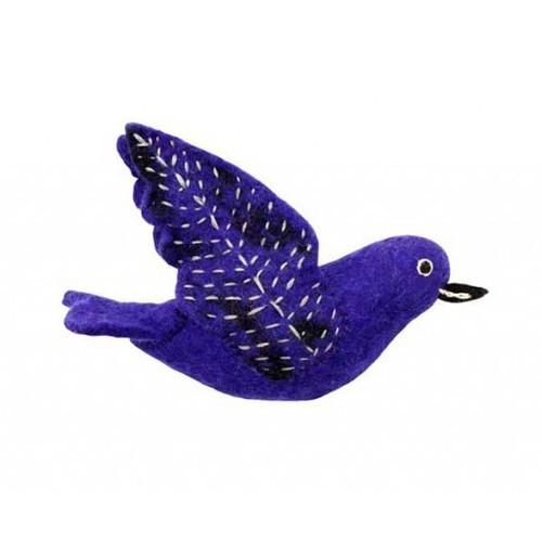 Decorative Birds - Felted Purple Martin