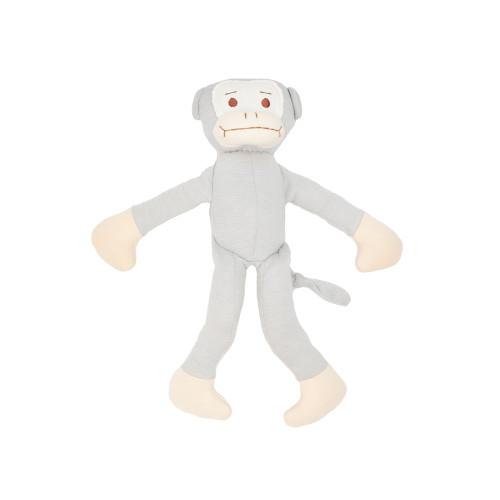 Organic Baby Toys - Grey Stuffed Monkey