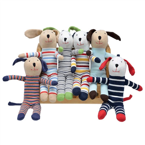 Organic Baby Toy - Scrappy Dog - Assorted Print