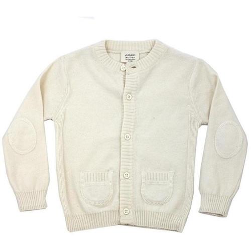Organic Cardigan Sweater - 0-3 Months - Cream