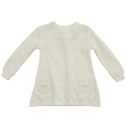 Organic Baby Dress - 0-3 Months - Cream
