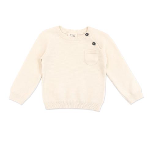 Organic Pullover Sweater - Cream, 3-6 Months