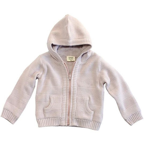 Organic Baby Sweater - Pink, 3-6 Months
