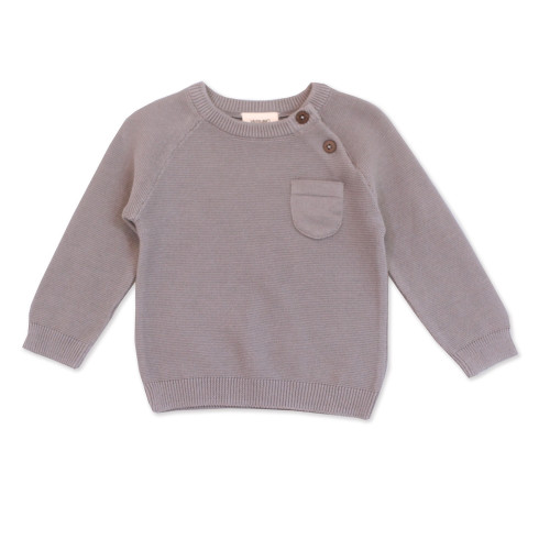 Organic Pullover Sweater - 3-6 Months - Grey