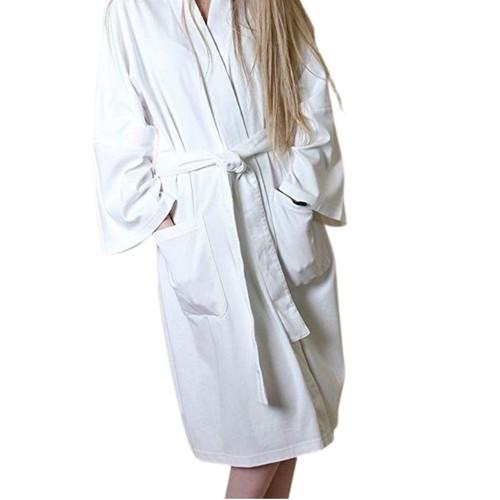 Women's Organic Cotton Bathrobe - White, Small