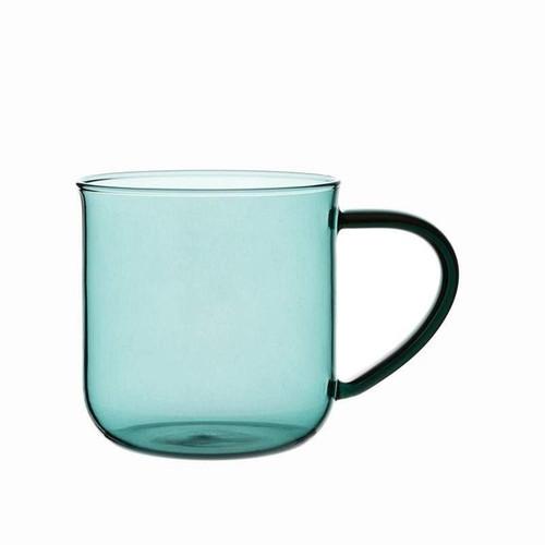 Modern Glass Mug - Aqua