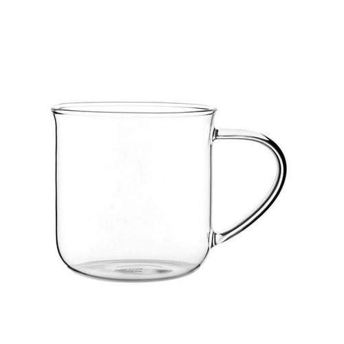 Modern Glass Mug - Clear