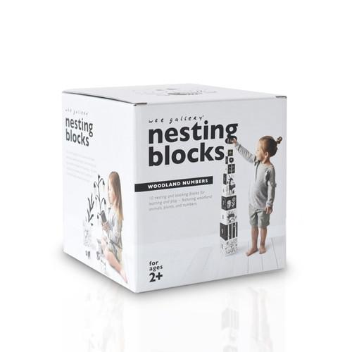Modern Nesting Blocks - Woodland Numbers