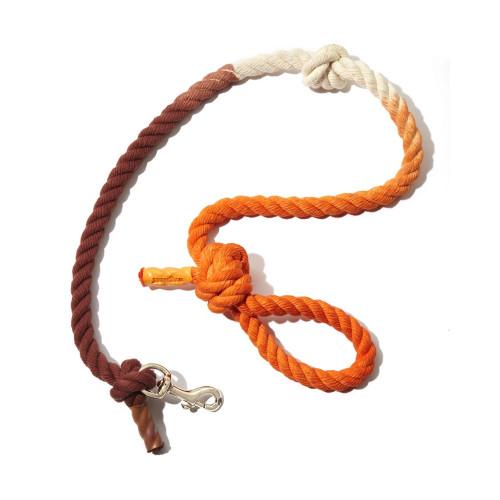 Wagwear - Cotton Rope Dog Leash - Tie Dye