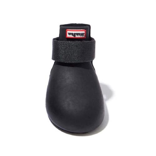 Wagwear - Dog Wellies - Rubber Rainboots (Set of 4) - Black - M (35-45lbs)