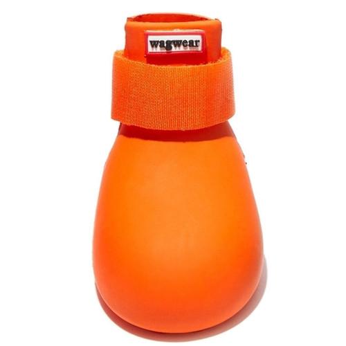 Wagwear - Dog Wellies - Rubber Rainboots (Set of 4) - Orange - L (45-60lbs)