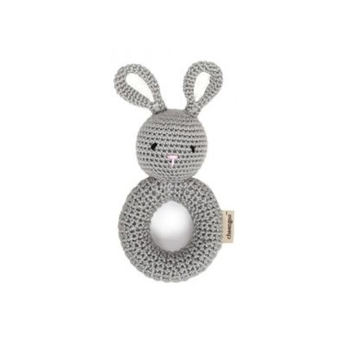 Organic Baby Toys - Bunny Rattle