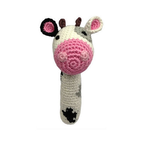 Organic Baby Toys - Cow Rattle