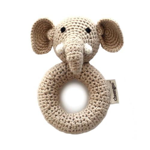 Elephant Baby Rattle - Organic
