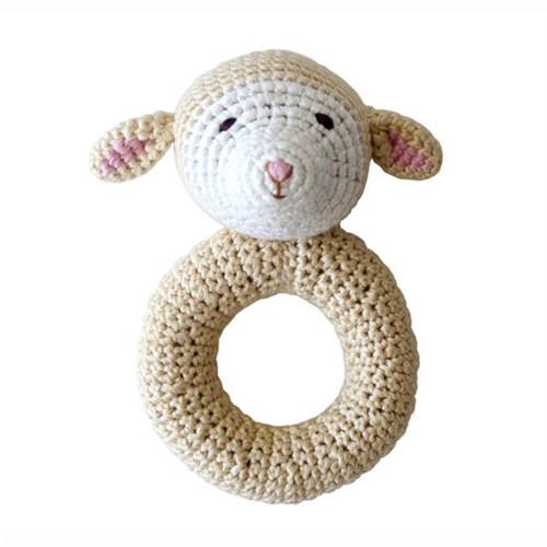 Organic Baby Toys - Lamb Rattle