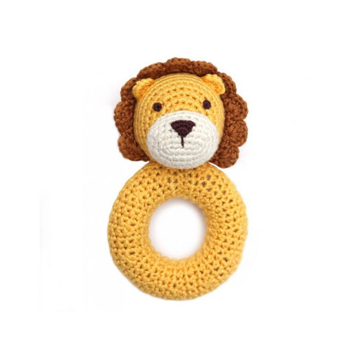 Organic Baby Toys - Lion Rattle