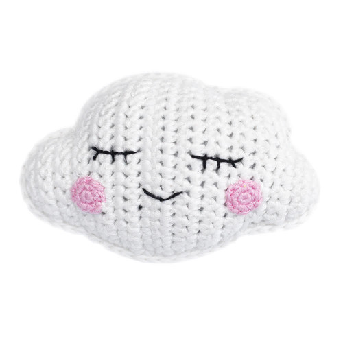 Organic Baby Toys - Cloud Rattle