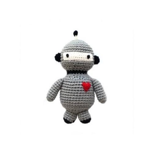 Organic Baby Toys - Robot Rattle