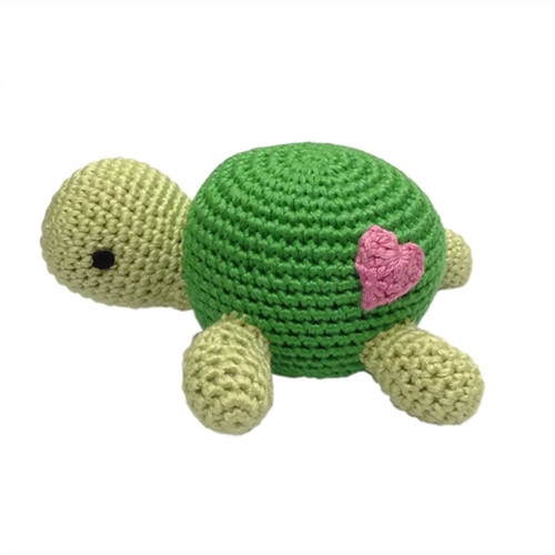 Organic Baby Toys - Turtle Rattle
