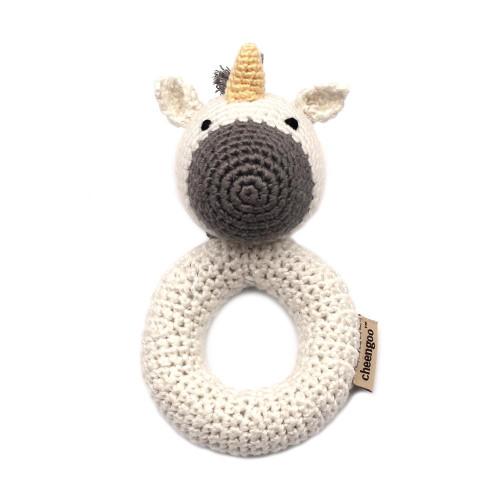 Organic Baby Toys - Unicorn Rattle
