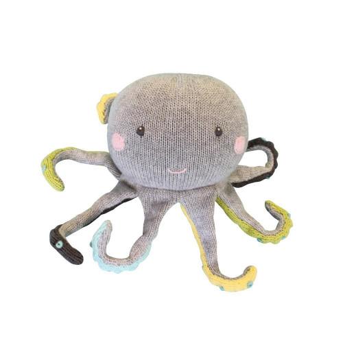 Oversized Hand Knit Octopus Rattle