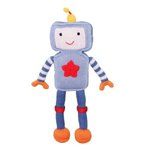 Handmade Stuffed Robot Toy