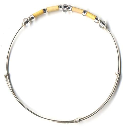 Fair Trade Jewelry - Leakey Celebration Bracelet - April (Yellow)