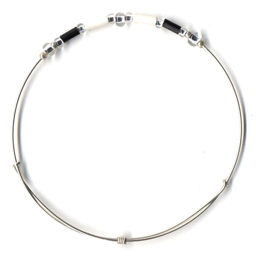 Fair Trade Jewelry - Leakey Celebration Bracelet - June (Black & White)