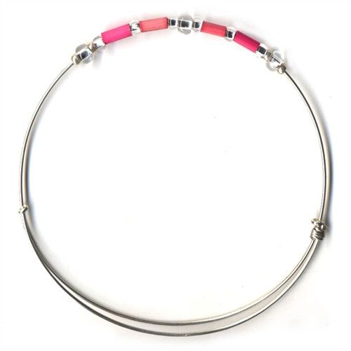 Fair Trade Jewelry - Leakey Celebration Bracelet - October (Pink)