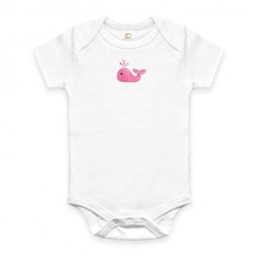 Organic Baby Onesie - Pink Whale