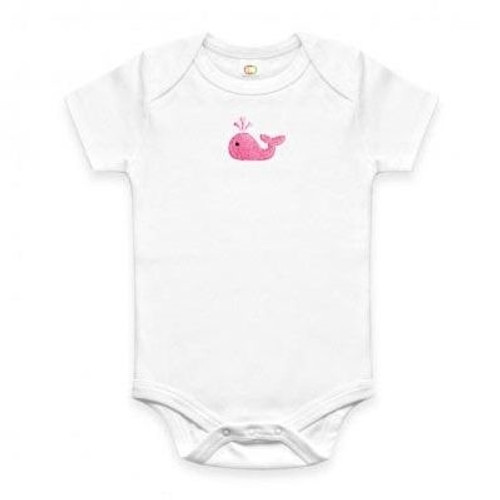 Organic Baby T-shirt - Pink Whale