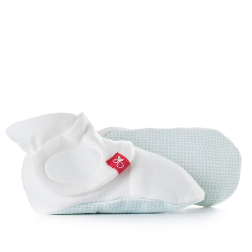 Organic Baby Booties - aqua drops