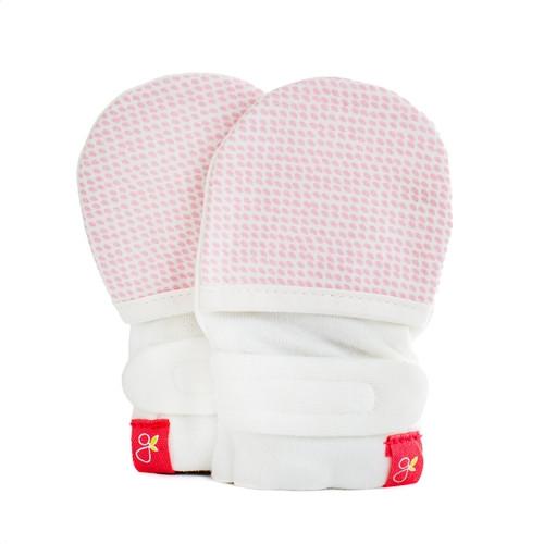 Organic Baby Mittens - Pink Dot