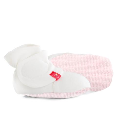 Organic Baby Booties - Pink Dot