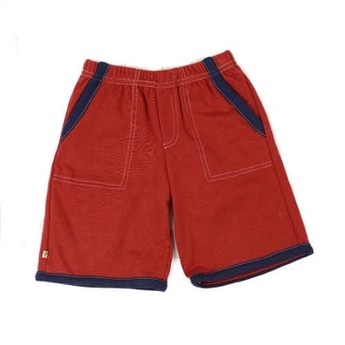 Organic Shorts for Toddlers - Red 4T