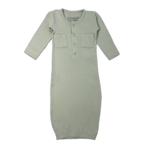 Organic Baby Gown - Sage Green 0-3m