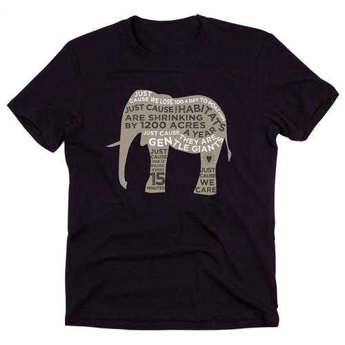Elephant T-shirt For Women - Black & Grey