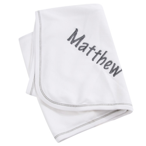 Personalized Grey Blanket - Enter Name at Checkout - Add 5 Days for Shipping