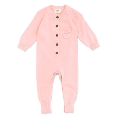 Organic Baby Romper - Pink - Knit - 3-6m