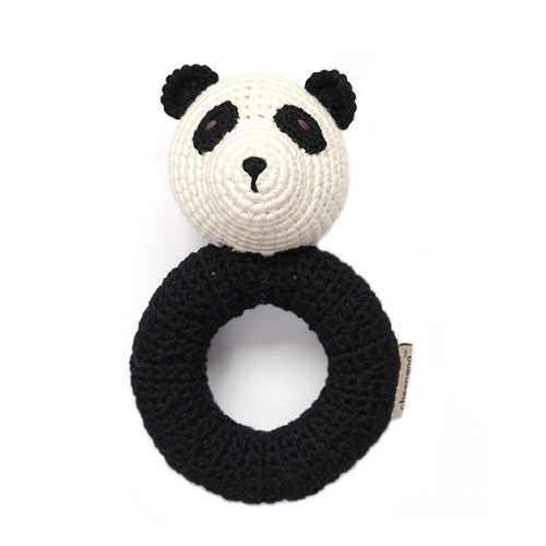 Organic Panda Rattle
