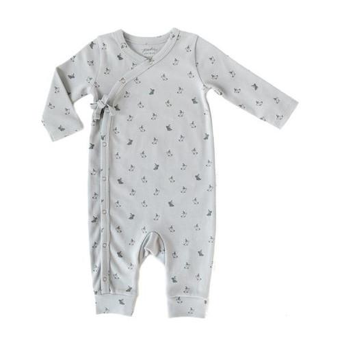 Organic Cotton Kimono Romper - Bunny, 3-6m