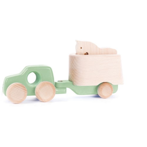 Wooden Truck with Horse Cart