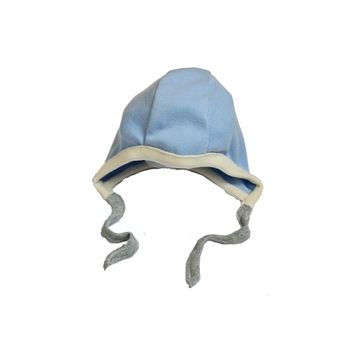 Organic Baby Bonnets - Blue - 6-12 months