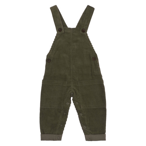 Organic Corduroy Overall - Forest, 3-6m