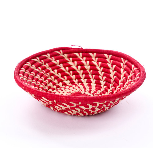 Bead for Life African Baskets - Red, Assorted Pattern