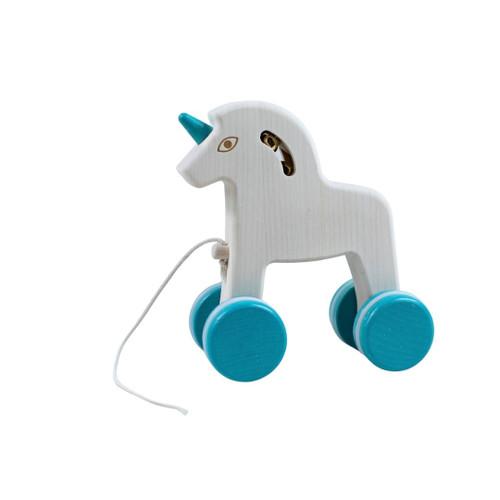 Wooden Unicorn Pull Toy