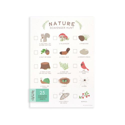 Nature Scavenger Hunt Cards - Set of 25