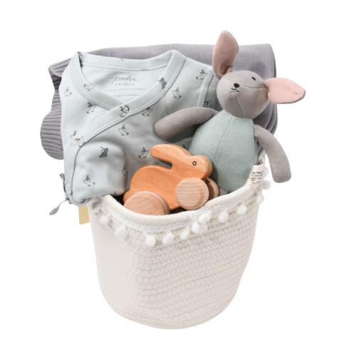 Sweet Baby Boy Gift Basket - Blissful Bunnies